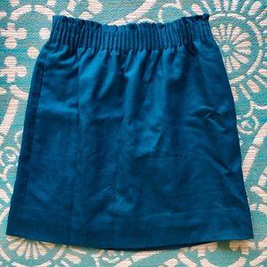 Beautiful Blue J. Crew Wool Skirt
